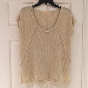 Adorable short sleeve waffle knit shirt
